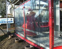 Vorhänge aus PVC-Glasklar für eine Imbiss