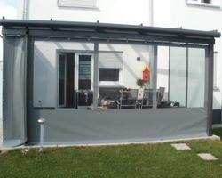 Vorhänge für ein Wintergarten aus PVC-hochfestgewebe mit Fenster